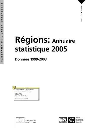 Régions: Annuaire statistique 2005 Données ... - Eurostat - Europa