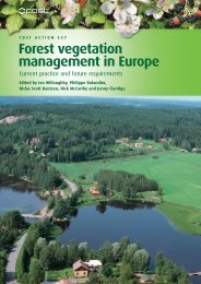 Forest vegetation management in Europe - Forestry Commission