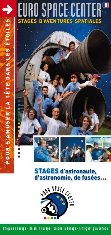 Stages d'aventures spatiales - Euro Space Center