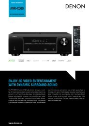 avr-x500 enjoy 3d video entertainment with dynamic ... - Denon