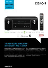 avr-x2000 the new sound revolution with spotify and 4k video