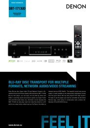 dbt-1713ud blu-ray disc transport for multiple formats, network audio ...