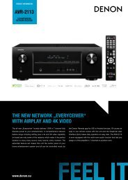 "AVR-2113 THE NEW NETWORK ""EVERYCEIVER ... - Denon UK"