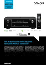 Denon AVR-3313 Manual - Audio Products Australia