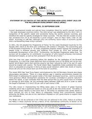 STATEMENT BY LDC WATCH - Eurostep