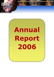 Annual Report 2006 - Eurostep