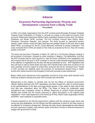 Economic Partnership Agreements, Poverty and ... - Eurostep