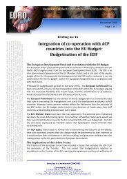 Integration of co-operation with ACP countries into the EU ... - Eurostep