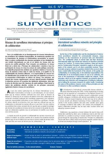 IVS V6 n¡ 2 - 16 pages - Eurosurveillance