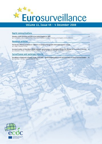 Volume 13, Issue 49 - 4 December 2008 - Eurosurveillance