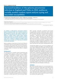Increased incidence of Mycoplasma pneumoniae ... - Eurosurveillance