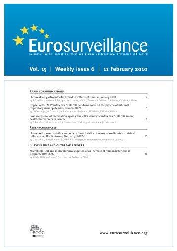 Vol. 15 | Weekly issue 6 | 11 February 2010 - Eurosurveillance