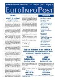 Kundenzeitschrift der EUROSYSTEMS S.à.r.l. – Ausgabe 1/2003 ...