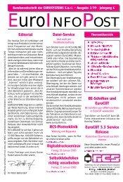 Editorial BE-Schriften und EuroCUT EuroCUT 5.3 ... - RCS-ONLINE