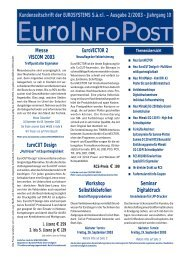 Kundenzeitschrift der EUROSYSTEMS S.à.r.l. – Ausgabe 2/2003 ...