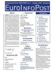 Kundenzeitschrift der EUROSYSTEMS S.à.r.l. ... - RCS-ONLINE
