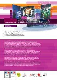 Musiques amplifiées et gestion du risque auditif - EuroTinnitus ...