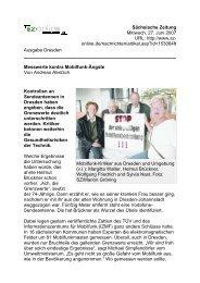 Sächsische Zeitung Mittwoch, 27. Juni 2007 URL: http://www.sz ...
