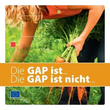 Die GAP ist... Die GAP ist nicht... - Eurotoques