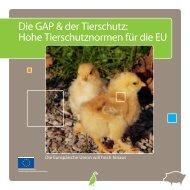 Die GAP & der Tierschutz: Hohe Tierschutznormen für ... - Eurotoques