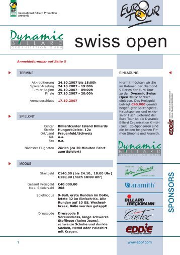 2007-06 swiss open herren deutsch.indd - Diamond Nine / Dynamic ...