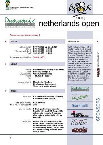 Open invitation letter to california summit collaborative family eurotour 2005 netherlands open weert invitation letter stopboris Image collections