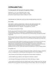 1. Vereinbarung über die Satzung der Europäischen Schulen