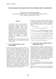 A decision support system prototype for fuzzy multiple ... - EUSFLAT
