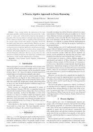 A Process Algebra Approach to Fuzzy Reasoning - EUSFLAT