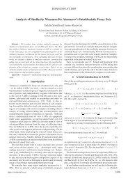 Analysis of Similarity Measures for Atanassov's ... - EUSFLAT