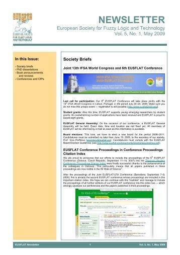 Vol. 5, No. 1, May 2009 - EUSFLAT