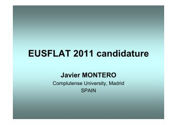 EUSFLAT Board Candidature 2011