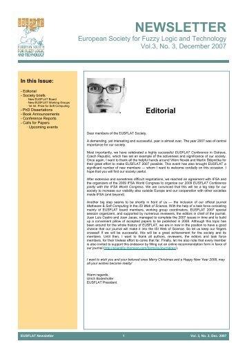 Vol. 3, No. 3, December 2007 - EUSFLAT