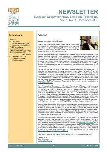 Vol. 1, No. 1, December 2005 - EUSFLAT