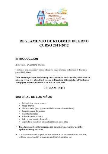reglamento de regimen interno curso 2011-2012 introducción
