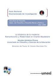 La dinámica de lo moderno Romanticismo y Modernidad en Charles ...