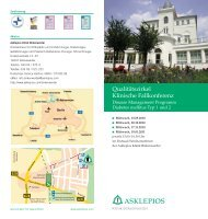 Qualitätszirkel Klinische Fallkonferenz - Asklepios