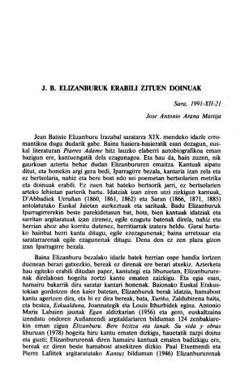 J. B. ELIZANBURUK ERABILI ZITUEN DOINUAK - Euskaltzaindia