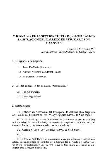 LA SITUACIÓN DEL GALLEGO EN ASTURIAS ... - Euskaltzaindia