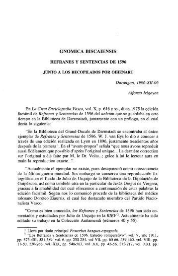 GNOMICA BISCAIENSIS - Euskaltzaindia