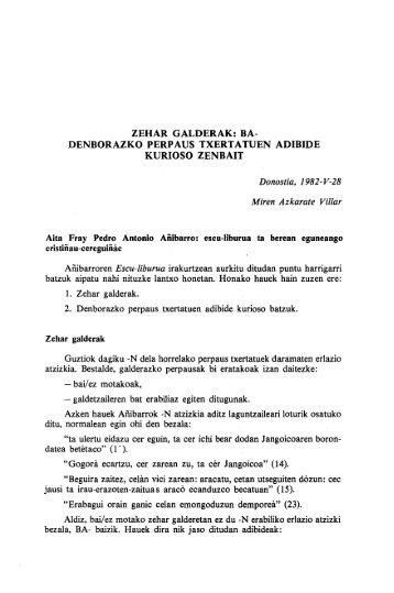 zehar galderak: ba- denborazko perpaus txertatuen ... - Euskaltzaindia
