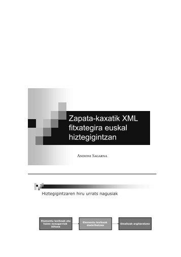 Zapata-kaxatik XML fitxategira euskal hiztegigintzan - Euskaltzaindia