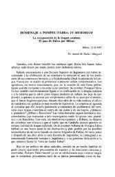 HOMENAJE A POMPEU FABRA: IN MEMORIAM - Euskaltzaindia