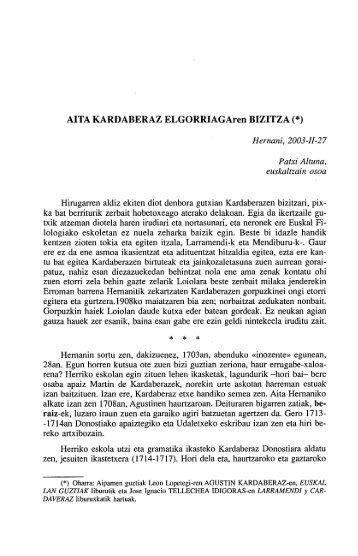 AlTA KARDABERAZ ELGORRIAGAren BIZITZA (*) - Euskaltzaindia