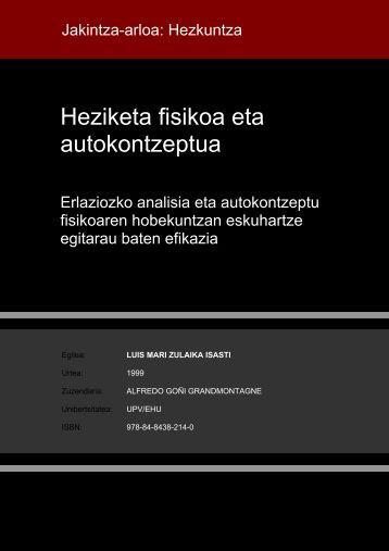 Heziketa fisikoa eta autokontzeptua - Euskara