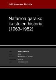 Nafarroa garaiko ikastolen historia (1963-1982) - Euskara