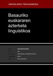 Basauriko euskararen azterketa linguistikoa