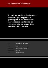 Jakintza-arloa: Kazetaritza Bi begiratu euskarazko kazetari hizkerari ...