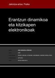 Erantzun dinamikoa eta kitzikapen elektronikoak - Euskara
