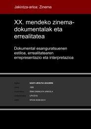 XX. mendeko zinema- dokumentalak eta errealitatea - Euskara